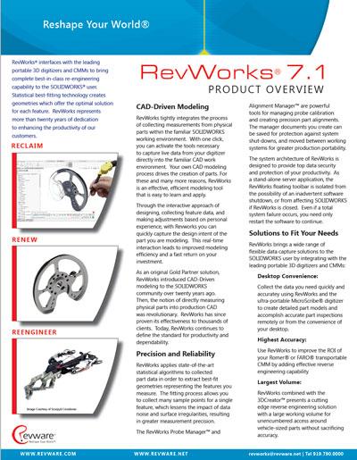 RevWorks Product Brochure preview